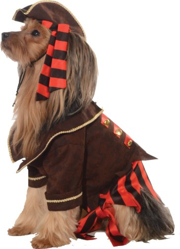 Dog Colonial Costumes (Rubie's Pet Costume, Medium, Pirate)
