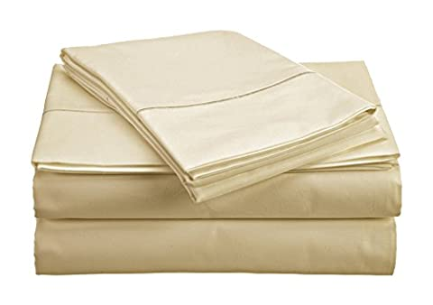 Chateau Home Collection 800-Thread-Count Egyptian Cotton Deep Pocket Sateen Weave King Sheet Set, - Solid Sateen Sheets