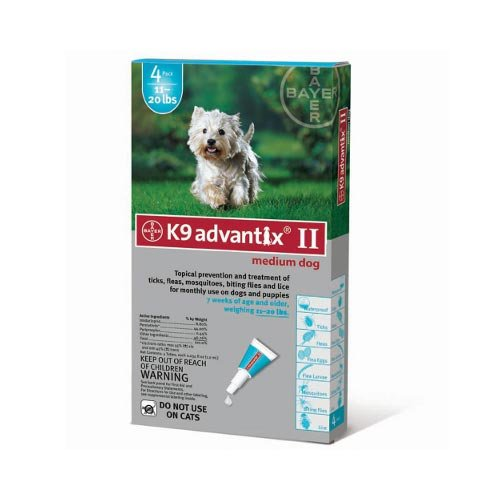 Advantix Flea and Tick Control for Dogs 10-22 lbs 4 Month Supply 4 Pack