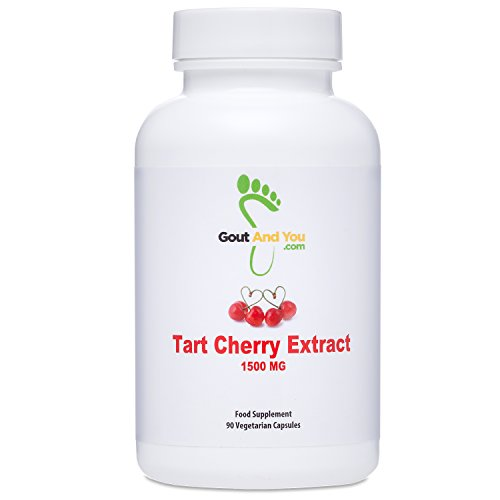 Gout and You Tart Cherry Capsules with Maximum Potency (1500 mg) and Fast Acting - Natural Tart Cherry Extract Supports Uric Acid Related Pain Relief, Flare Ups, Swelling, Inflammation - USA Made
