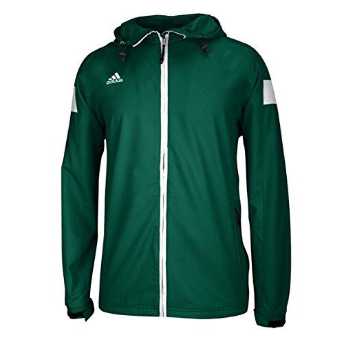 adidas Mens Team Sports Full Zip Jacket, Collegiate Green/White, X-Large