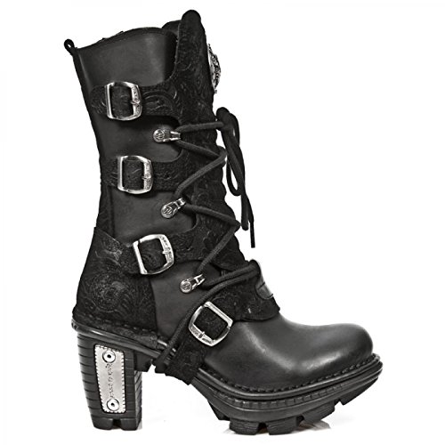 Nuovi Stivali Da Roccia M.neotr005-s2 Gotico Hardrock Punk Damen Stiefel Schwarz