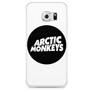 Arctic Monkeys Circle Logo Black And White Hard Plastic Snap-On Case Cover For Samsung Galaxy S6 EDGE by mcsharks