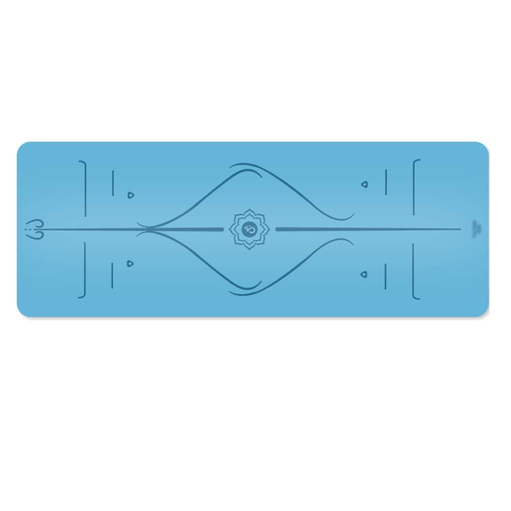 Pang Pang Yoga-Matte - Naturkautschuk, breit und lang, rutschfest, mit dem Alignment Marker System , Anfänger und Anfänger Yoga Fitness multifunktionale Sporttrainingsmatte, Bodenmatte, Größe  183cmX6