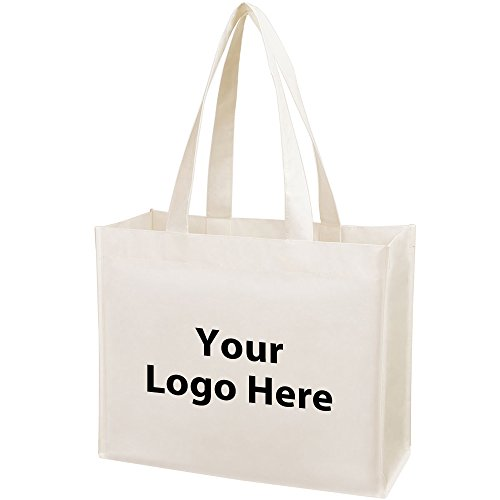 Promotional Shopper - Matte Laminated Shopper Tote - 100 Quantity - $2.25 Each - PROMOTIONAL PRODUCT/BULK/BRANDED with YOUR LOGO/CUSTOMIZED