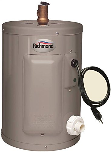 RHEEM/RICHMOND Richmond 6ep2-1 Electric Water Heater, 2000 W, 120 Vac, 2.5 Gal Tank, Stainless Steel, 2.5 gallon