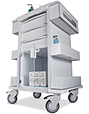 TrippNT 51463 Polyethylene/Aluminum Element 01 All Purpose Healthcare Cart, 24-Inch W X 35-Inch H X 19-Inch D