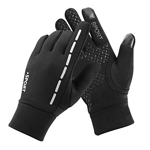 Gloves Premium Cycling (Kungber Cycling Gloves Driving Gloves Winter Gloves for Men/Women,Touchscreen Gloves,Premium Soft Waterproof Windproof Non-Slip for Outdoor Sport Driving Cycling Skiing,Keep Warm in Cold Weather(L))