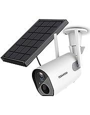 Solar Security Camera Wireless Outdoor WiFi Camera, YESKAMO HD 1080P Solar Powered Camera 10400mAh Battery IP Camera for Home Security, 2 Way Audio Video Surveillance System