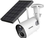 Solar Security Camera Wireless Outdoor WiFi Camera, YESKAMO HD 1080P Solar Powered Camera 10400mAh Battery IP