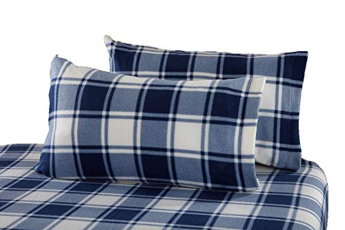 - Great Bay Home Super Soft Extra Plush Plaid Polar Fleece Sheet Set. Cozy, Warm, Durable, Smooth, Breathable Winter Sheets with Plaid Pattern. Dara Collection By Brand. (King, Navy)