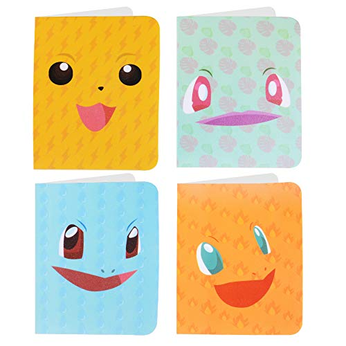 Totem World 4 Mini Album for Pokemon Cards - Each Mini Binder Album Holds 60 Cards - Top Load Sleeves Included - Protect Your Deck in Style - Inspired by Pikachu, Charmander, Squirtle, and Bulbasaur (Pop Pokemon Cards)