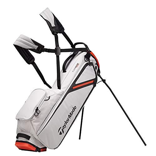 TaylorMade 2019 Flextech Lite Stand Golf Bag, Silver/Blood Orange