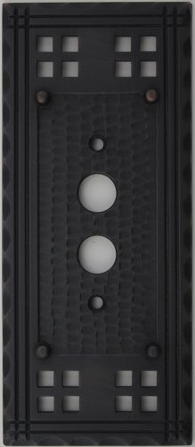 Arts & Crafts Mission Style Oil Rubbed Bronze One Gang Switch Plate - One Push Button Light Switch Opening