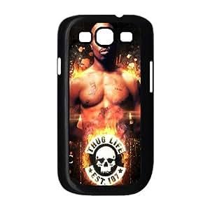 Samsung Galaxy S3 9300 Cell Phone Case Black 2pac Phone Case For Men Plastic XPDSUNTR31022