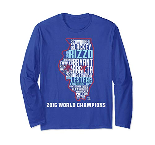 Anthony Rizzo Illinois State Outline Roster Long Sleeve ()
