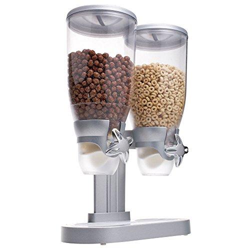 """HUBERT Buffet Cereal Dispenser for 2 Cereals 1 Gallon Each -12"""" L x 6"""" W x 18"""" H"""