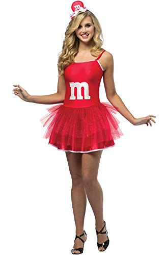 Teen Red M&m Party Dress (Rasta Imposta M&M's Party Dress, Red, Teen 13-16)