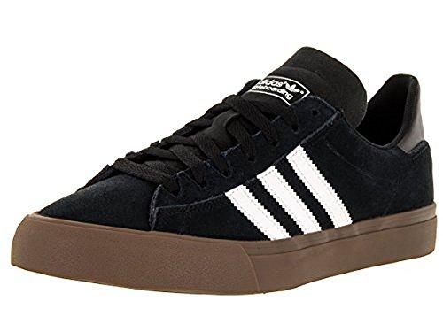 Adidas Men's Campus Vulc II Black/Wwht/Gums Skate Shoe 9.5 Men US