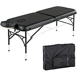 "Artechworks 84"" Professional 2 Folding Portable Lightweight Massage Table Facial Solon Spa Tattoo Bed With Aluminium Leg(2.56"" Thick Cushion of Foam)"