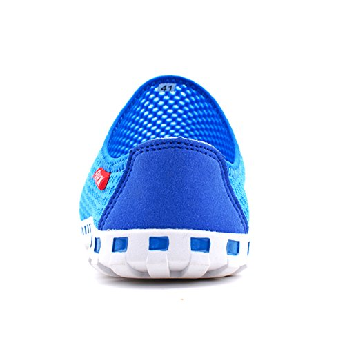 SAGUARO Mens Slip-On Loafers Mesh Shoes Beach Casual Aqua Water Shoes Fashion Sneakers Blue 9w8XefTY