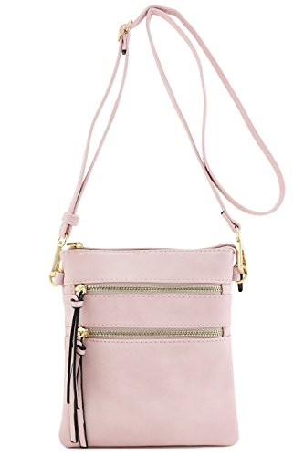 Functional Multi Pocket Crossbody Bag (Blush)