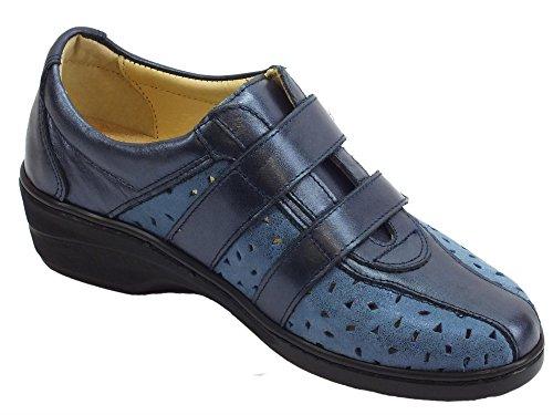 Sneakers Pelle Blu Conform Linea Nabuk Strappo Doppio Susimoda In E 6PqaHBBp