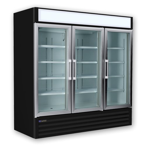 Master-Bilt MBGR70H Fusion Three Glass Door Refrigerator,...