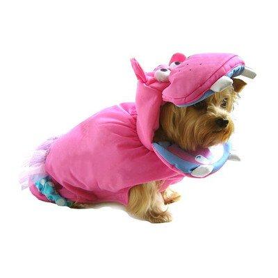 Pink Hippo Dog Costume Size: 4 - (12.5