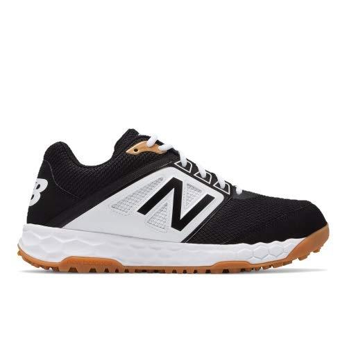 New Balance Men's 3000v4 Turf Baseball Shoe, Black/White, 9 D US