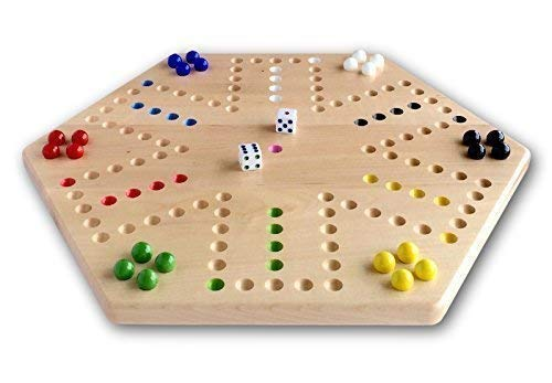 (Maple Hand-painted Double-sided Aggravation Game Board, 16