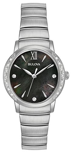 Bulova Women's Quartz Stainless Steel Dress Watch, Color:Silver-Toned (Model: 96R213)