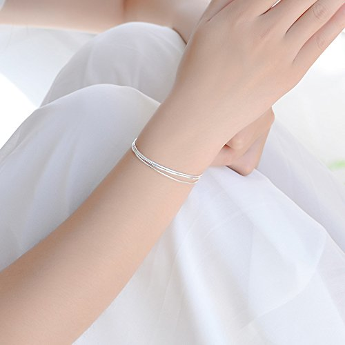 Horaire Fu/ßkettchen Mode Einfacher Stil DREI Schichten Legierung Fu/ßSchmuck Frau Strand Fu/ßkette Zubeh/ör Ketten,21cm