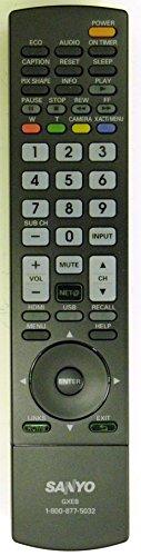 Sanyo GXEB LCD HD TV Remote Control for DP37840, DP42840, DP46840, DP50740, DP52440