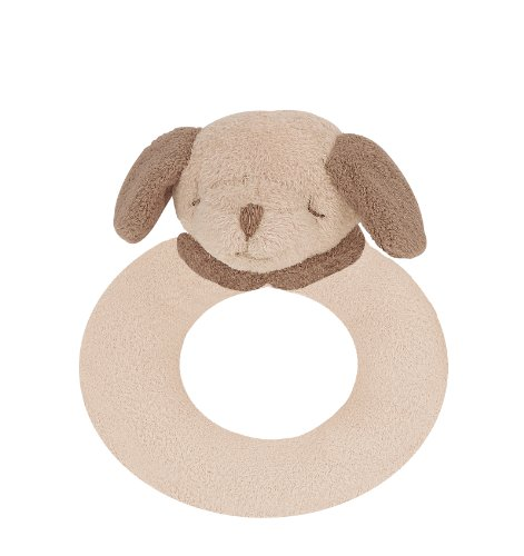 Angel Dear Ring Rattle, Light Brown Puppy