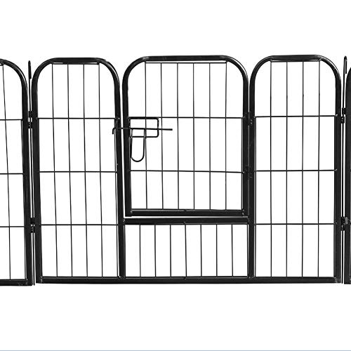 - Superday Decorative Garden Fence Heavy Duty Pet Dog Playpen Pet Foldable Exercise Fence Barrier Kennel Exercise Play Yard,8 Panels 40''Height