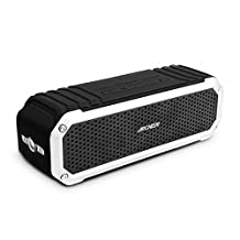 Waterproof Speaker, Archeer Wireless Bluetooth 4.0 Speaker Shockproof Waterproof Outdoor, Dual 5W Drivers Up to 12 Hour Playtime, for iPhone 6 6s Plus Galaxy S5 S6 Edge Note 5(Silver)