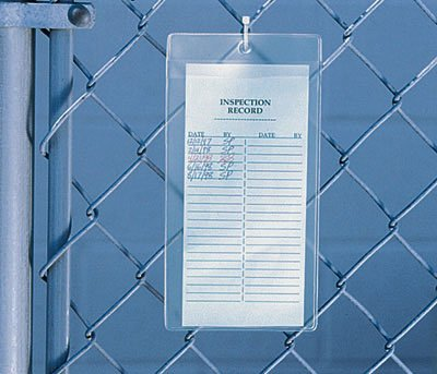 9'' x 12'' Non-Glare Vinyl Tag Holder with Clear Flap and Hang Hole (8 Gauge) (50 Tag Holders) - AB-99-6-09 by Miller Supply Inc (Image #1)