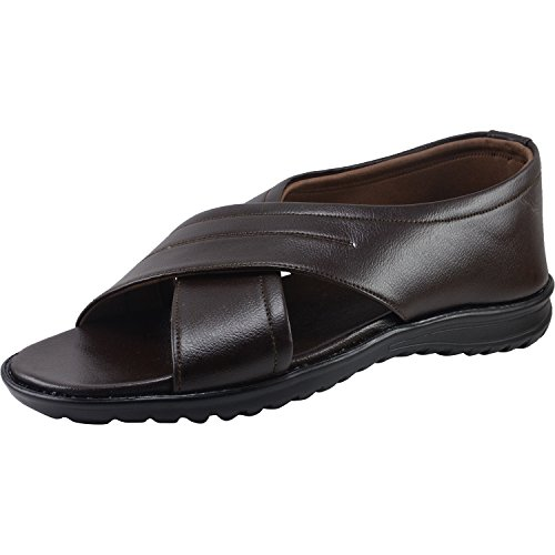 on Vonzo Brown Sandal Formal Slip Men Soft SqRxtqzw