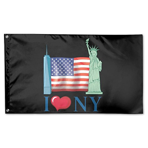 Garden Flag Love New York Freedom 3x5ft Home Yard Flag Wall Banners Decoration by YS25
