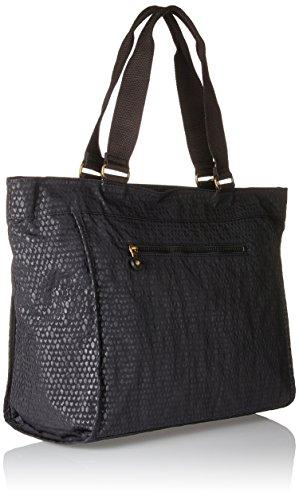 x New H Black Noir Kipling Shopper B 5 Femmes x T Scarlet 5x34x17 cm Emb 48 fqA8xqw