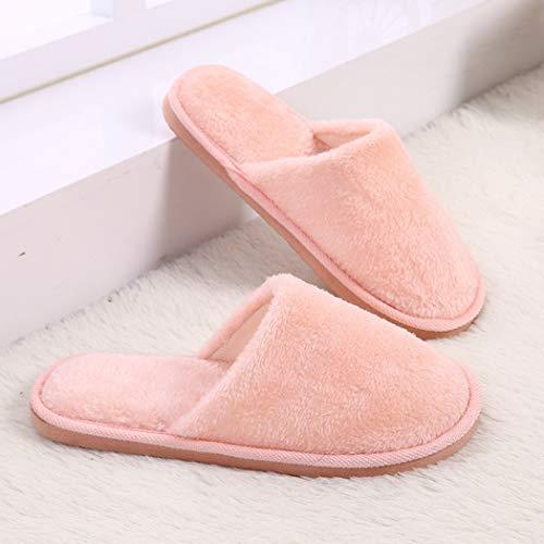 Chaussures Gratuite Au Rose Intérieur Plates Pantoufles Tissu Livraison Luxe Coton Flops Pâle Retourner Peluche Femmes De Plancher Printemps En Nikimi TUSx56qq