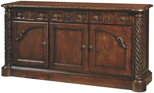 Signature Design by Ashley D553-80 North Shore Buffets, Dark Brown