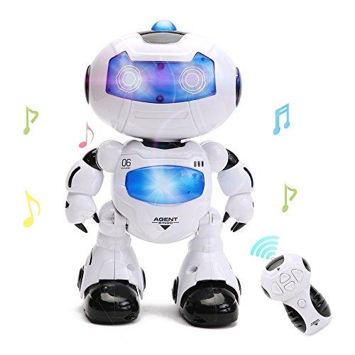 image Jouet Robot Intelligent pour Jeux Electroniques à Distance Command Enfant avec Musique et Lumières par Wishtime