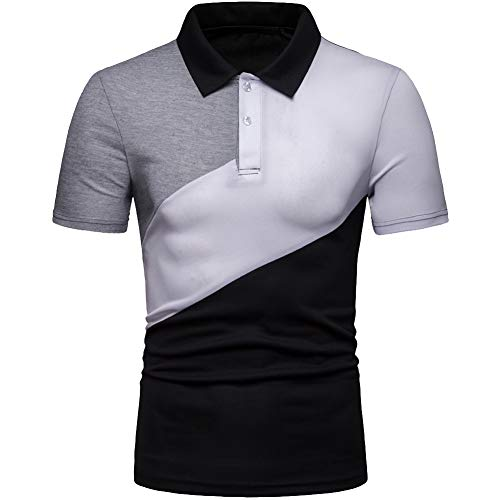 Elegeet Men's Slim Fit Contrast Color T-Shirt 2 Button for sale  Delivered anywhere in Canada