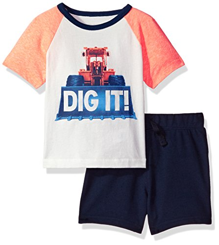 The Childrens Place Baby Girls Screen Tee Shorts Set