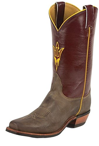 Nocona College Mens Arizona State University Boot Fyrkantig Tå Tan 8 D (m) Oss