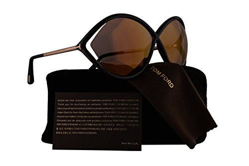 Tom Ford FT0528 Liora Sunglasses Dark Havana w/Pink Lens 52Z TF528 FT528 FT 528 TF - Alicia Ford Sunglasses Tom