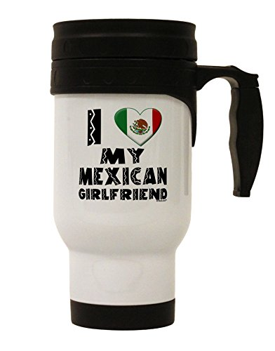 TooLoud I Heart My Mexican Girlfriend Stainless Steel 14oz Travel Mug by TooLoud