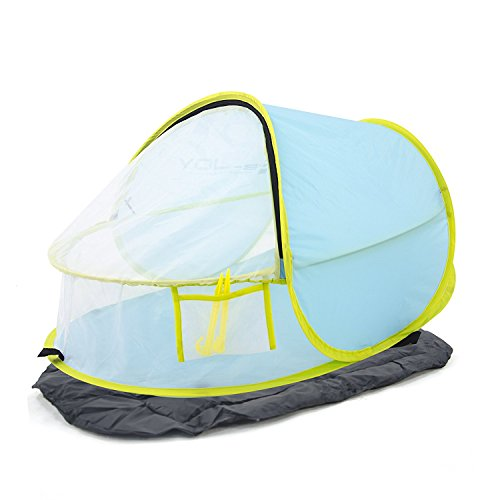 Porpora Pop up Baby Beach Tent , Sun Protection Shelters ,Easy set up,A Perfect Kids Shelter with pad . An Outdoor Travel and Activities Shade Tent Mini Canopy, Mosquito Net